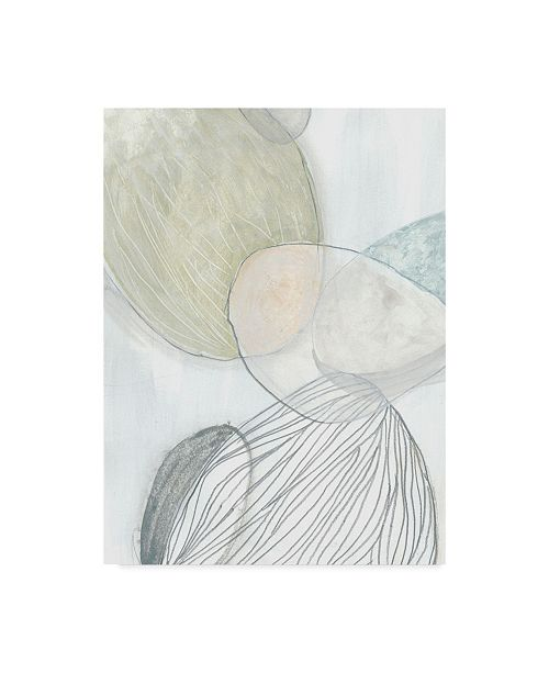 """Trademark Global June Erica Vess Sea Pebbles I Canvas Art - 37"""" x 49"""""""