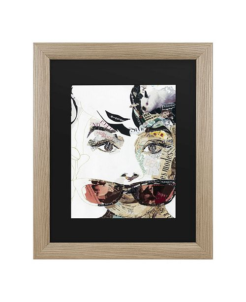 "Trademark Global Ines Kouidis Audrey Matted Framed Art -16x20"""