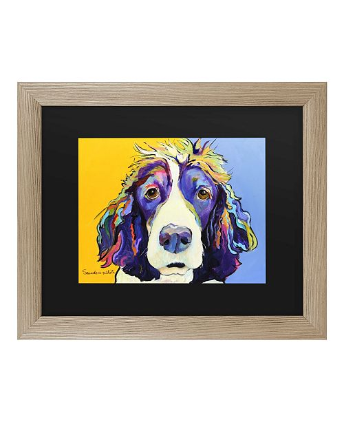 "Trademark Global Pat Saunders-White Sadie Matted Framed Art - 37"" x 49"""