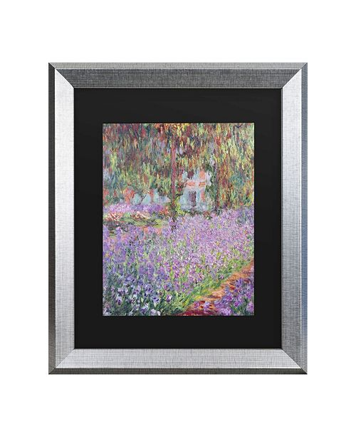 "Trademark Global Claude Monet The Artist's Garden at Giverny Matted Framed Art - 27"" x 33"""