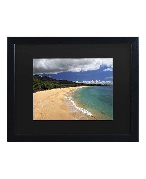 "Trademark Global Pierre Leclerc Makena Maui Matted Framed Art - 15"" x 20"""
