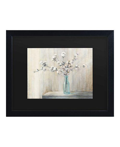 """Trademark Global Julia Purinton Cotton Bouquet Matted Framed Art - 15"""" x 20"""""""