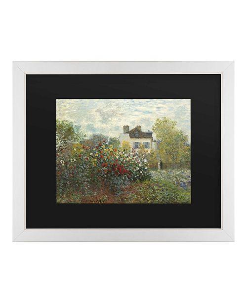 """Trademark Global Claude Monet The Artist's Garden in Argenteuil Matted Framed Art - 20"""" x 25"""""""