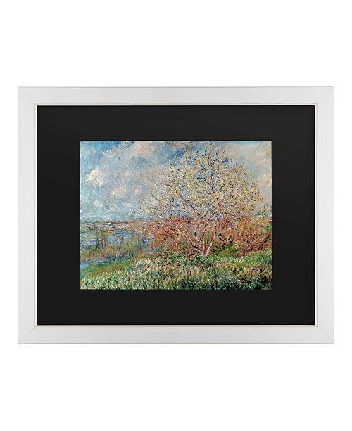 """Trademark Global Claude Monet Spring 1880 Matted Framed Art - 20"""" x 25"""""""