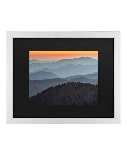 "Trademark Global Pierre Leclerc Great Smoky Sunset Matted Framed Art - 20"" x 25"""