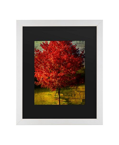 "Trademark Global Philippe Sainte-Laudy Autumn Red Matted Framed Art - 20"" x 25"""
