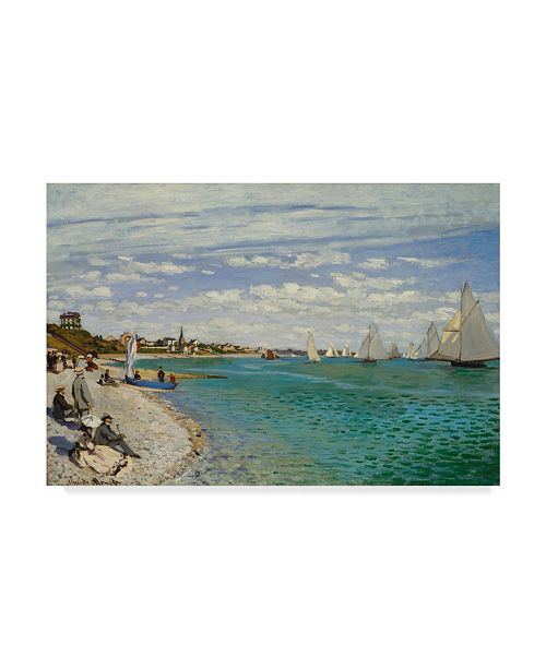 "Trademark Global Claude O. Monet Regatta at Sainte Adresse Canvas Art - 20"" x 25"""