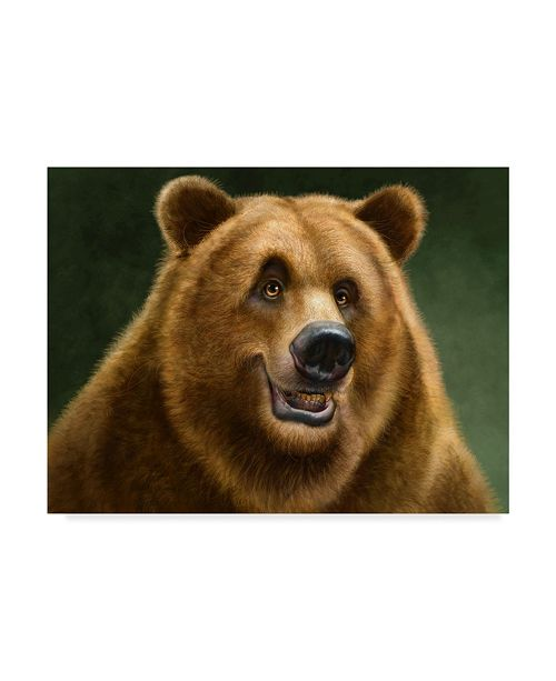 "Trademark Global Patrick Lamontagne Grizzly Totem Canvas Art - 15"" x 20"""
