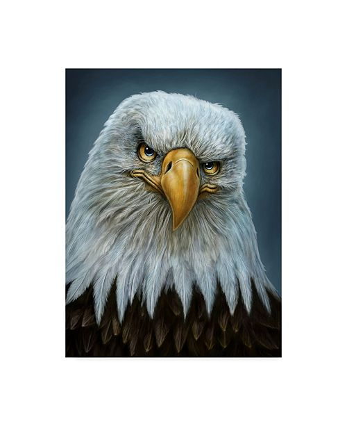 "Trademark Global Patrick Lamontagne Bald Eagle Totem Canvas Art - 15"" x 20"""