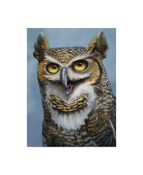 "Trademark Global Patrick Lamontagne Great Horned Owl Totem Canvas Art - 15"" x 20"""