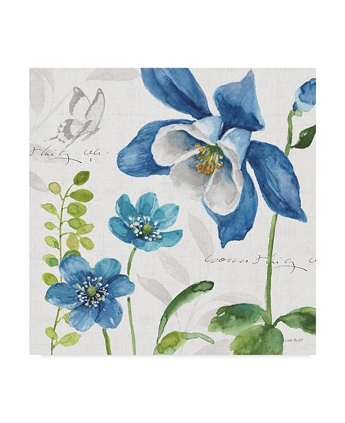 """Trademark Global Lisa Audit Blue and Green Garden III Canvas Art - 20"""" x 25"""""""