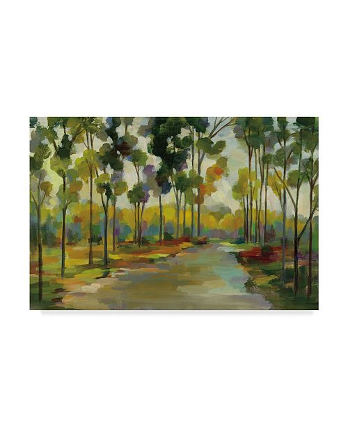 "Trademark Global Silvia Vassileva Path in the Forest Canvas Art - 20"" x 25"""