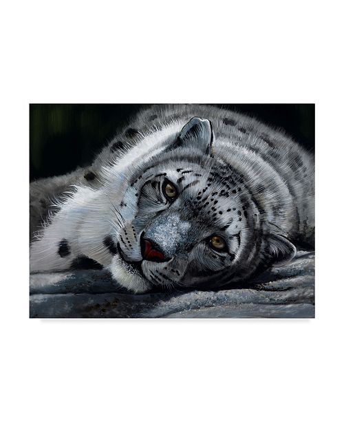 "Trademark Global Pip Mcgarry Taking it Easy Canvas Art - 15"" x 20"""