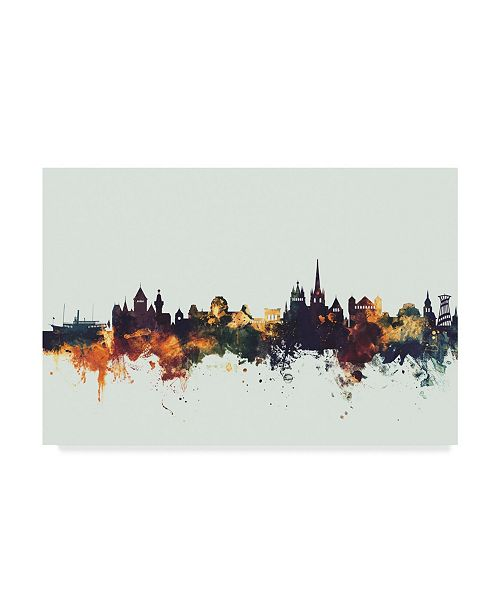 "Trademark Global Michael Tompsett Lausanne Switzerland Skyline IV Canvas Art - 15"" x 20"""