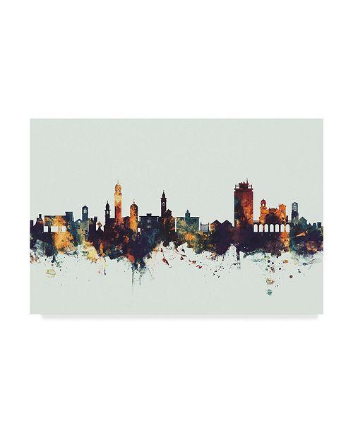 "Trademark Global Michael Tompsett Lugano Switzerland Skyline IV Canvas Art - 15"" x 20"""