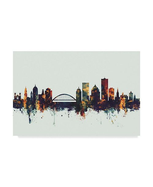 "Trademark Global Michael Tompsett Rochester New York Skyline IV Canvas Art - 37"" x 49"""