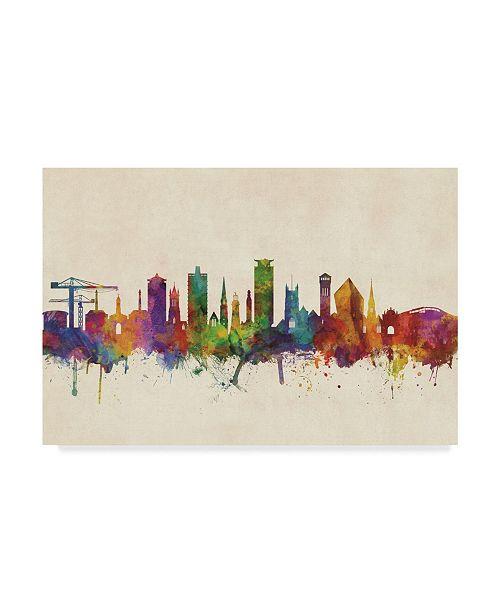 "Trademark Global Michael Tompsett Plymouth England Skyline Canvas Art - 20"" x 25"""