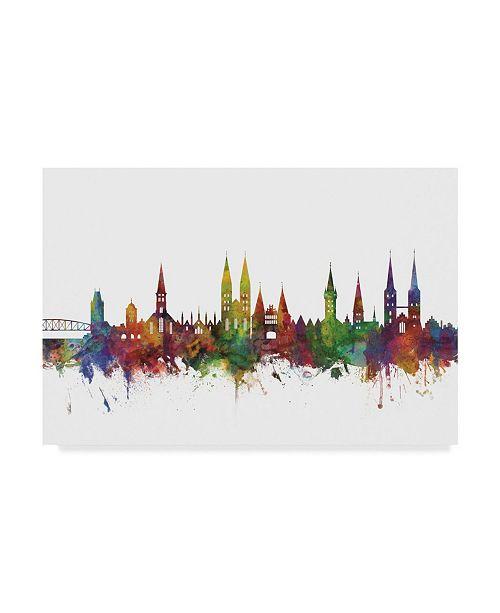 "Trademark Global Michael Tompsett Lubeck Germany Skyline II Canvas Art - 20"" x 25"""