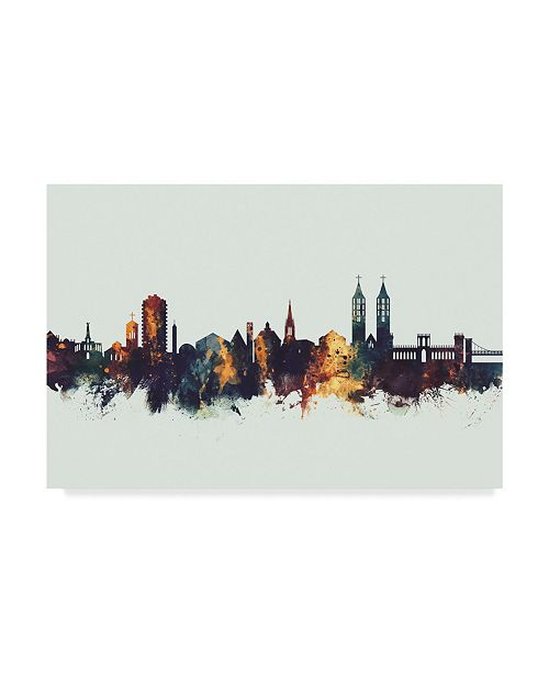 "Trademark Global Michael Tompsett Kassel Germany Skyline IV Canvas Art - 15"" x 20"""