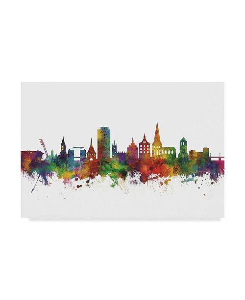 "Trademark Global Michael Tompsett Rostock Germany Skyline II Canvas Art - 20"" x 25"""