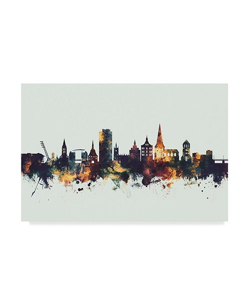 "Trademark Global Michael Tompsett Rostock Germany Skyline IV Canvas Art - 15"" x 20"""
