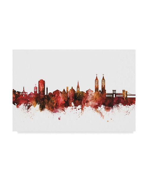 "Trademark Global Michael Tompsett Kassel Germany Skyline Red Canvas Art - 20"" x 25"""