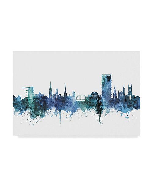 "Trademark Global Michael Tompsett Cheltenham England Skyline Blue Canvas Art - 15"" x 20"""