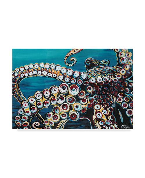 "Trademark Global Carolee Vitaletti Wild Octopus I Canvas Art - 20"" x 25"""