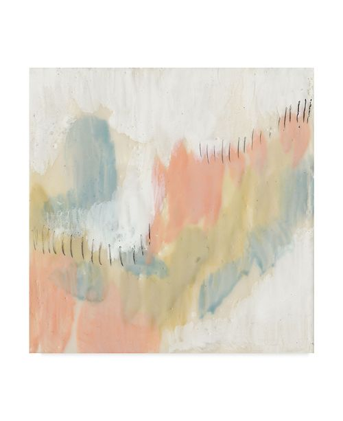 "Trademark Global Jennifer Goldberger Stitched Pastels I Canvas Art - 15"" x 20"""