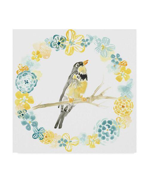"Trademark Global June Erica Vess Solo Songbird I Canvas Art - 27"" x 33"""