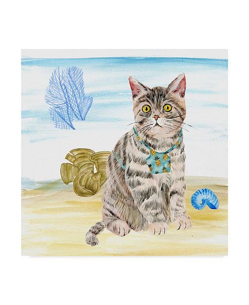"""Trademark Global Melissa Wang Summer Purr Party II Canvas Art - 27"""" x 33"""""""