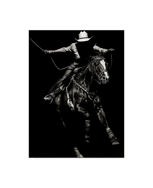 "Trademark Global Julie T. Chapman Scratchboard Rodeo III Canvas Art - 15"" x 20"""