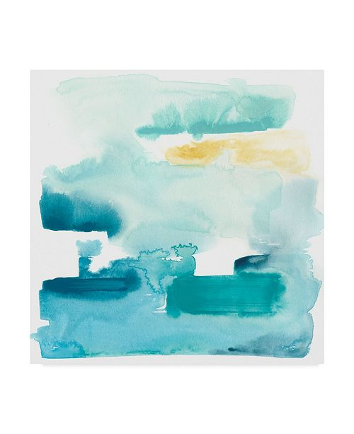 "Trademark Global June Erica Vess Liquid Shoreline IX Canvas Art - 27"" x 33"""