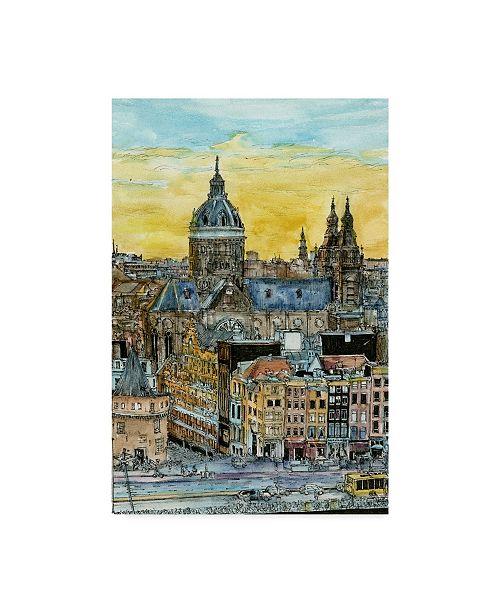 "Trademark Global Melissa Wang European Afternoon V Canvas Art - 37"" x 49"""