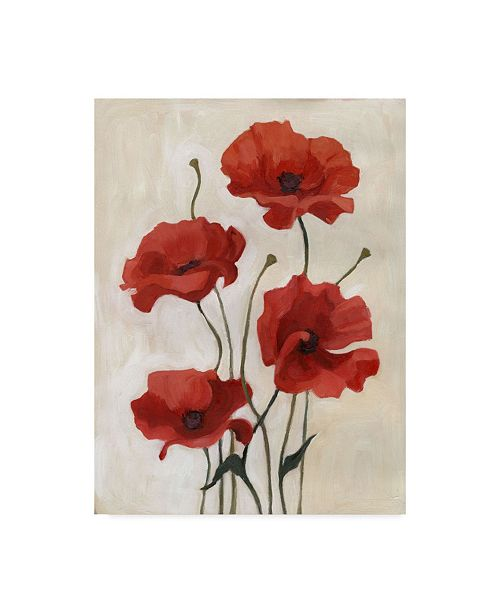 "Trademark Global Emma Scarvey Poppy Bouquet III Canvas Art - 20"" x 25"""