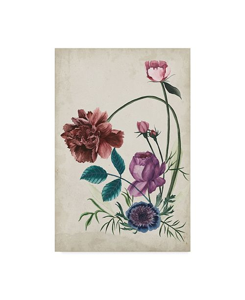 "Trademark Global Melissa Wang Antique Peony II Canvas Art - 37"" x 49"""