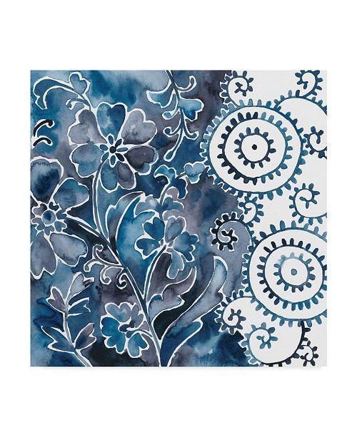 "Trademark Global Chariklia Zarris Cobalt Garden II Canvas Art - 20"" x 25"""