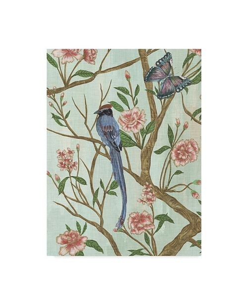 "Trademark Global Melissa Wang Delicate Chinoiserie I Canvas Art - 15"" x 20"""