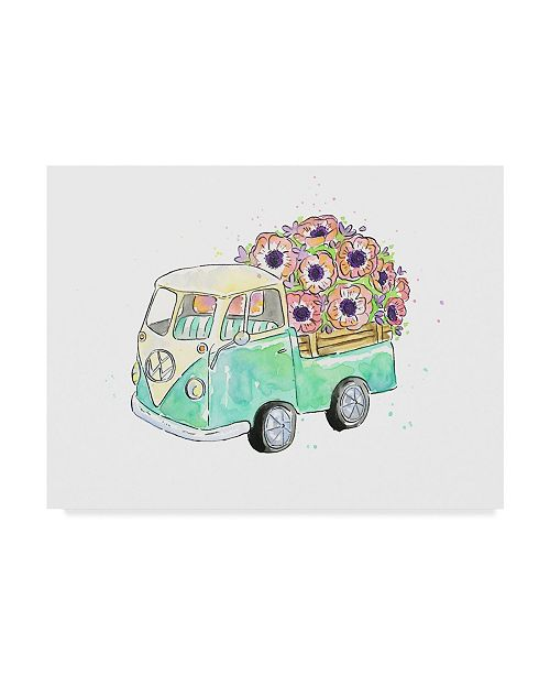 "Trademark Global Catherine Mcguire Flower Truck V Canvas Art - 15"" x 20"""