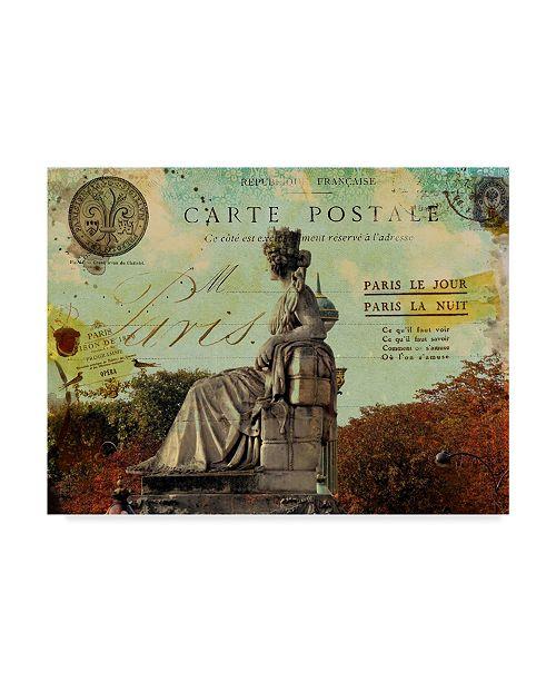 """Trademark Global Sandy Lloyd Femme Paris XI Canvas Art - 20"""" x 25"""""""