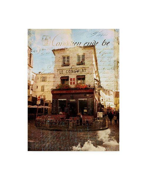 "Trademark Global Sandy Lloyd White Paris Bistro II Canvas Art - 20"" x 25"""