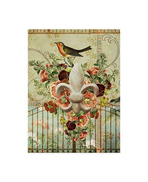"Trademark Global Sandy Lloyd Postcards of Paris XII Canvas Art - 20"" x 25"""
