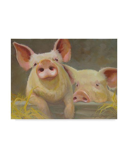 "Trademark Global Carolyne Hawley Life as a Pig II Canvas Art - 20"" x 25"""