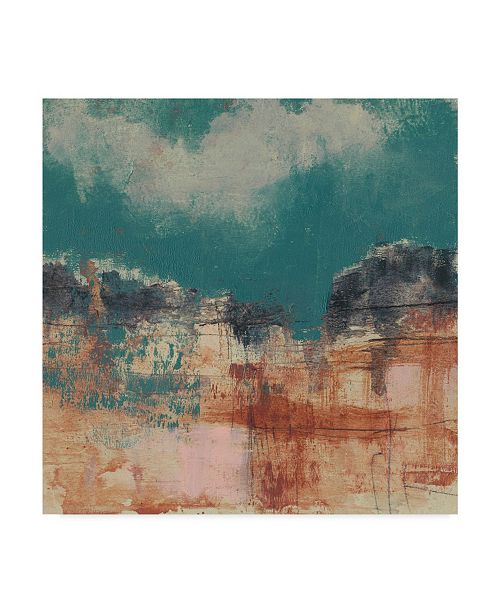 "Trademark Global Jennifer Goldberger Teal Sky I Canvas Art - 15"" x 20"""