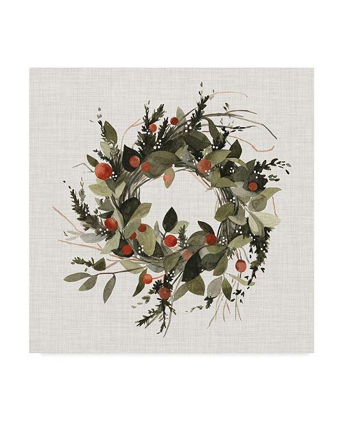 "Trademark Global Emma Scarvey Farmhouse Wreath II Canvas Art - 20"" x 25"""