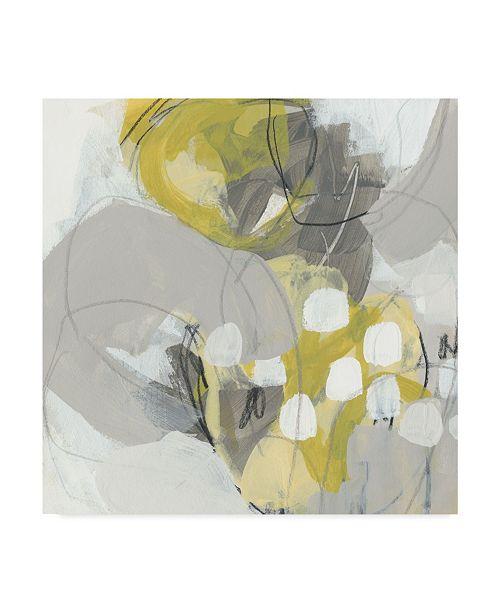 "Trademark Global June Erica Vess Citron Mist II Canvas Art - 15"" x 20"""