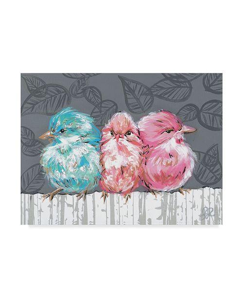 "Trademark Global Jennifer Rutledge Bird Trio I Canvas Art - 20"" x 25"""