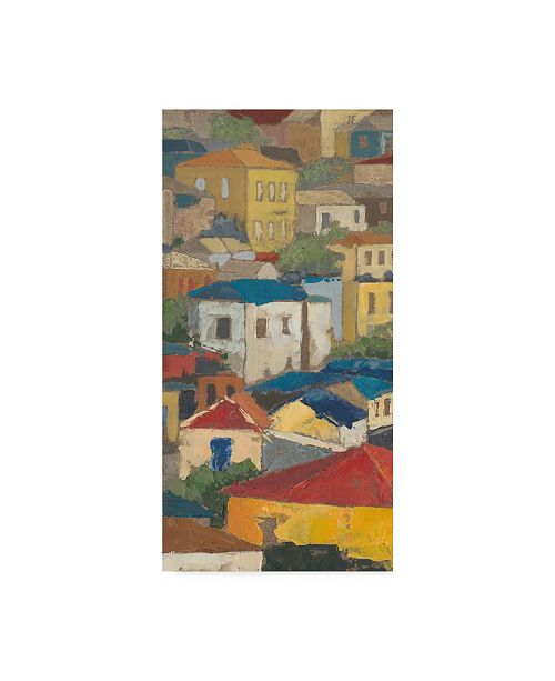 """Trademark Global Megan Meagher Primary Rooftops I Canvas Art - 15"""" x 20"""""""