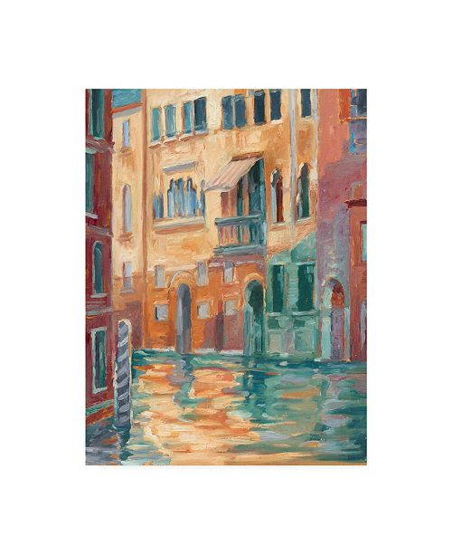 """Trademark Global Ethan Harper Sunset on the Canal II Canvas Art - 20"""" x 25"""""""
