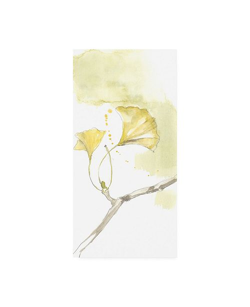 "Trademark Global Jennifer Goldberger Ginkgo Triptych I Canvas Art - 15"" x 20"""